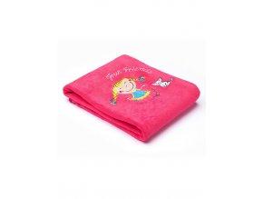 Dětská deka Sensillo Děti 75x100 cm raspberry