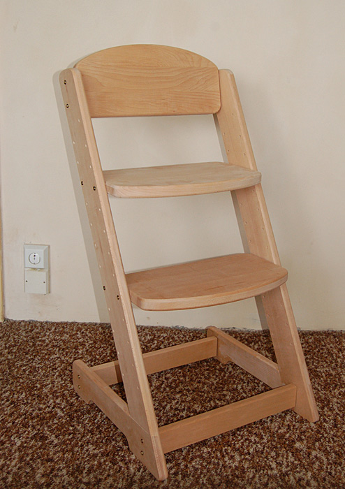 Dětská rostoucí židle VANESSA III buk + polštářek zdarma Lakování: Bílá