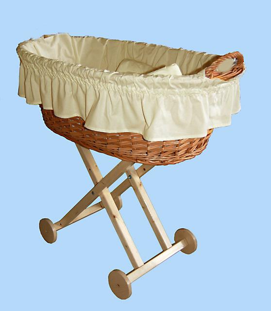 Košík pro miminko krémový
