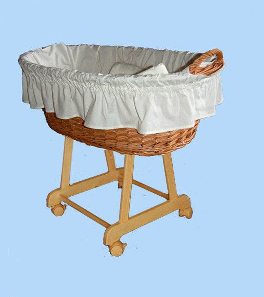 Košík na miminko II bez nebes - bílý