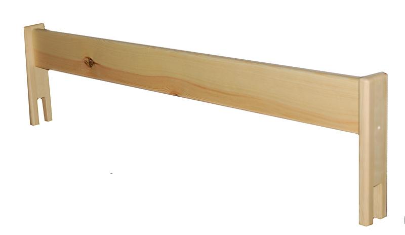 Univerzální zábrana na postel, borovice Rozměr: 80cm, Barva: Bez laku