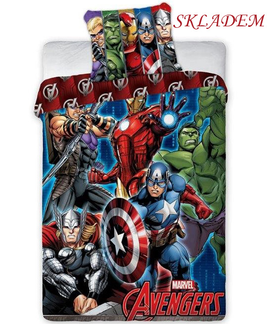 Dětské povlečení Avengers 001 70x90 140x200 cm