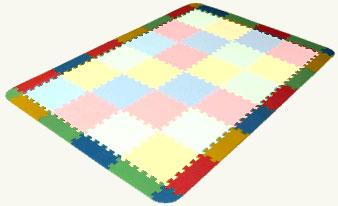 Zakončovací díly pro pěnový koberec 12dílů, 16mm