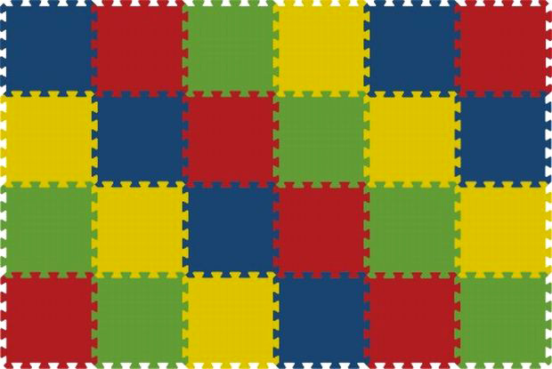 Pěnový koberec 8mm - 24dílů