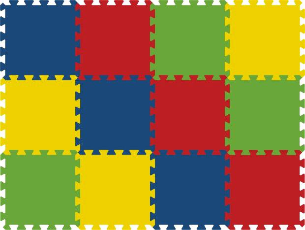 Pěnový koberec 8mm - 12dílů