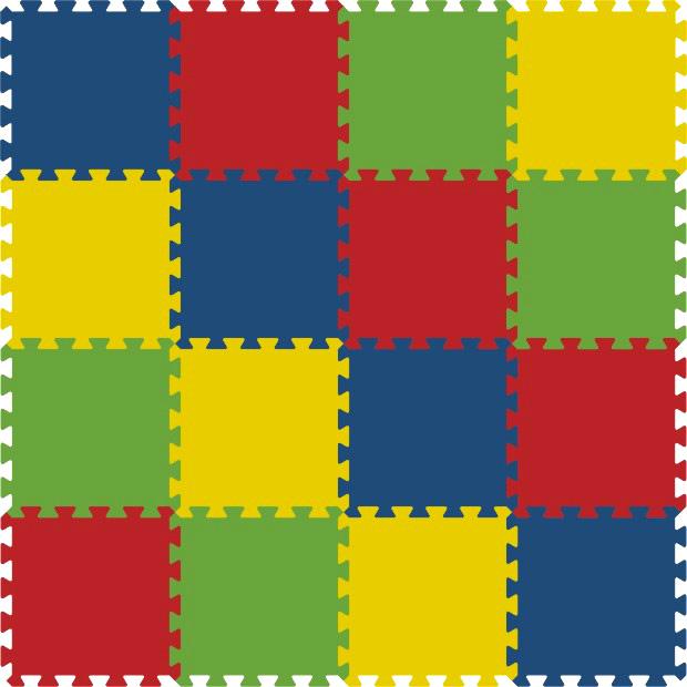 Pěnový koberec 8mm - 16dílů