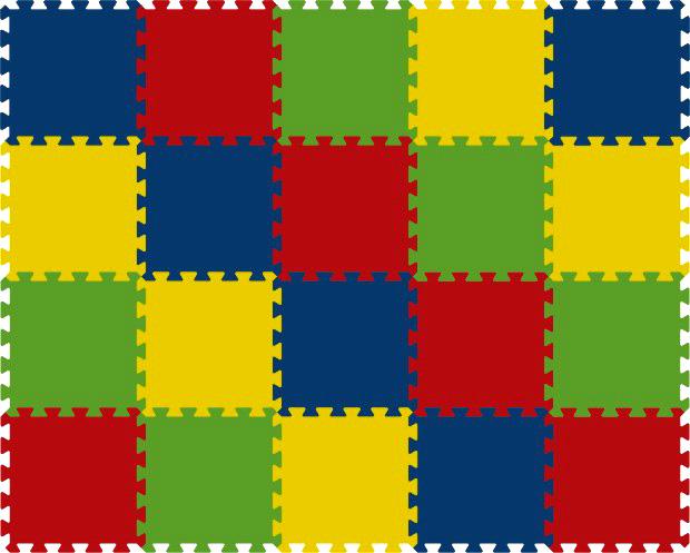 Pěnový koberec 8mm - 20dílů