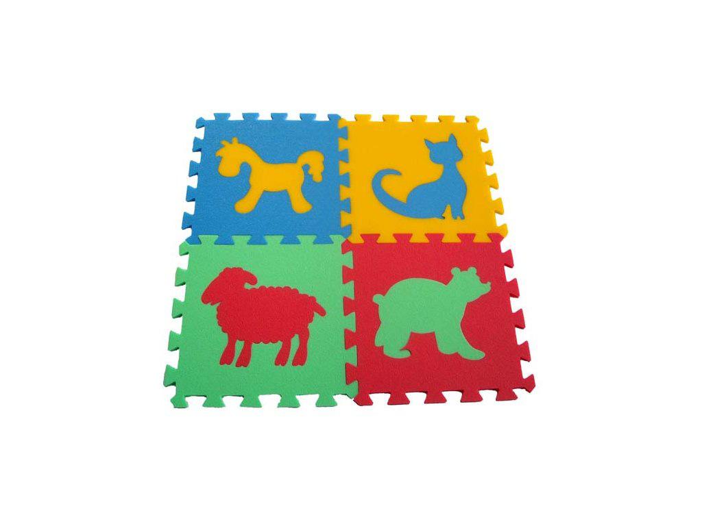 Pěnový koberec 8mm, 4díly - zvířátka 5