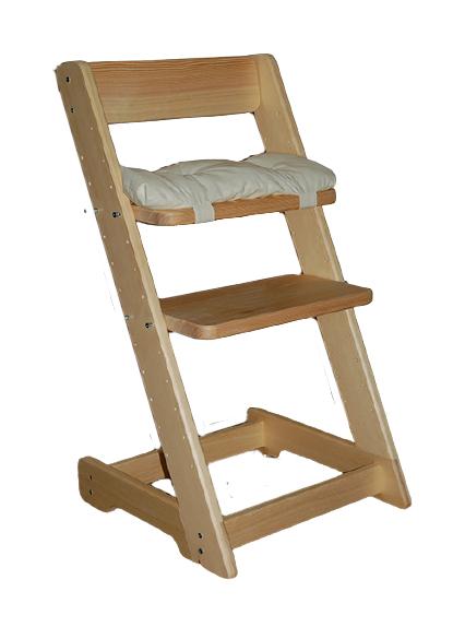 Dětská rostoucí židle VANESSA + polštářek zdarma Lakování: Bez laku