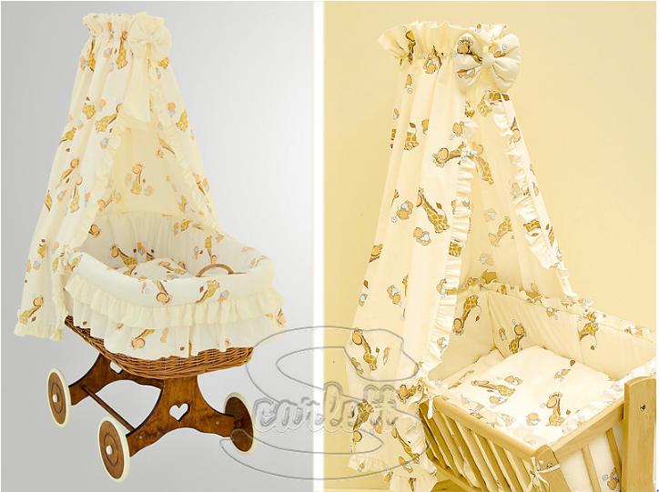 Nebesa nad proutěné koše a kolébky - Scarlett Žirafa - žlutá