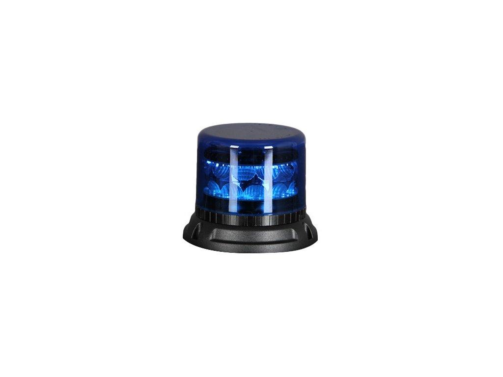 911 SIGNAL C24F maják LED 12-24V modrý homologace R65/E10, 24 LED diod 3 W, 22 světelných režimů, pro pevnou montáž