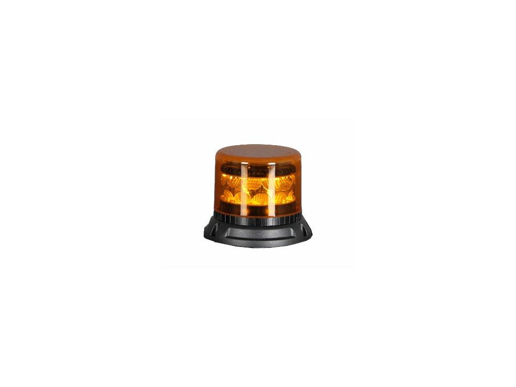 911 SIGNAL C24F maják LED 12-24V oranžový homologace R65/E10, 24 LED diod 3 W, 22 světelných režimů, pro pevnou montáž