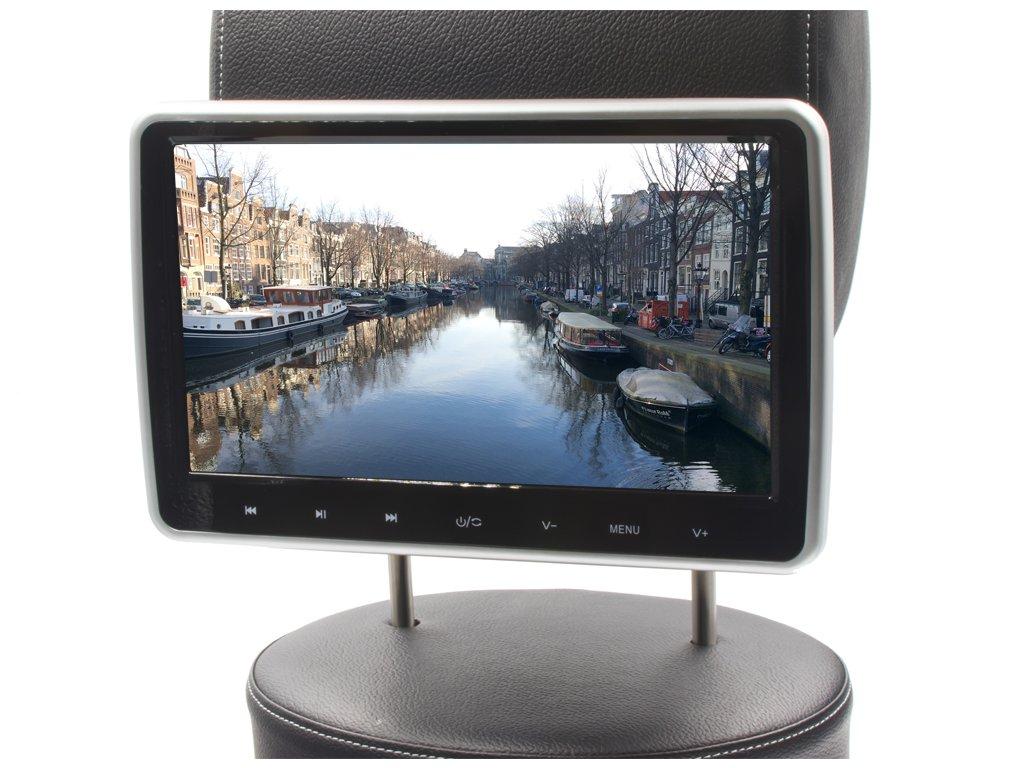 """DS-X102D LCD autodisplej na opěrku 10,1"""" 1024x600 dpi DVD/SD/USB/HDMI, dálkové ovládání"""
