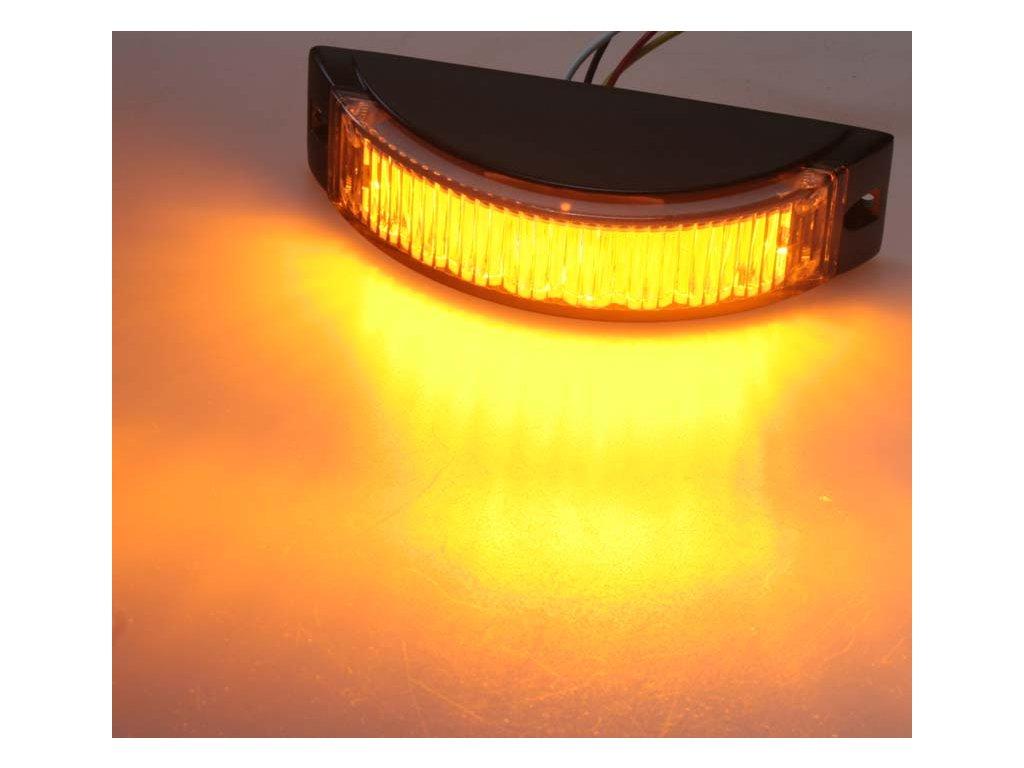 KF188 výstražné LED světlo oranžové 8x1 W, 180°, 12-24 V