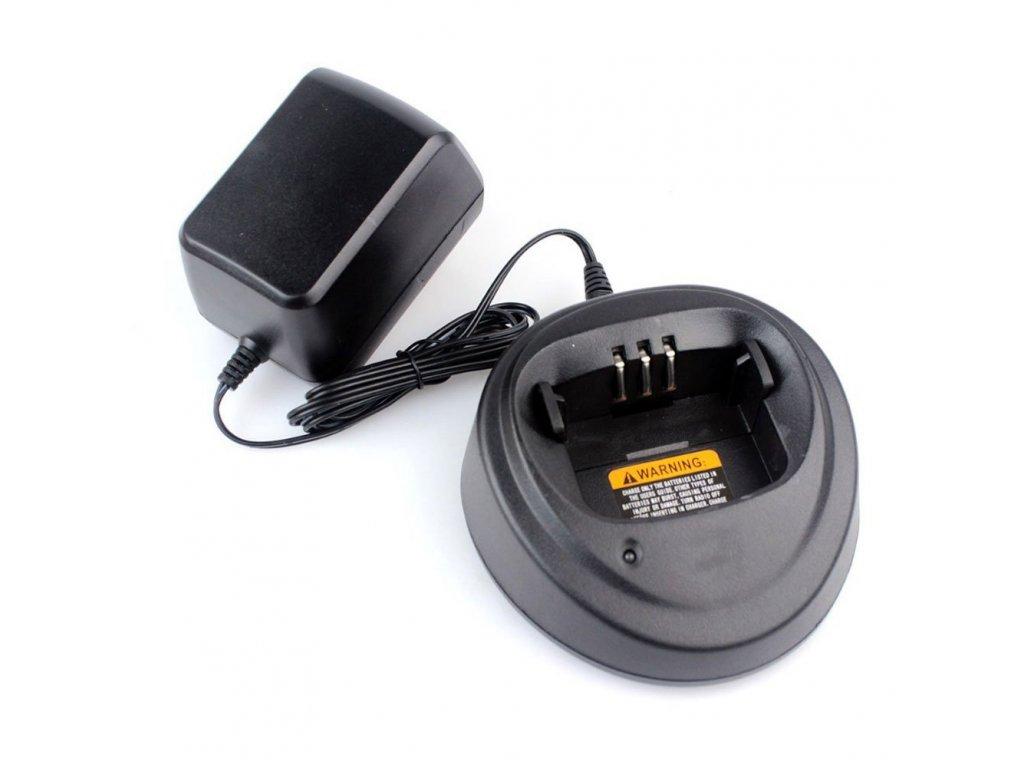 RADIOSRENTAL stolní nabíječ baterií pro Motorola CP040/140/340 vč. adaptéru 230V