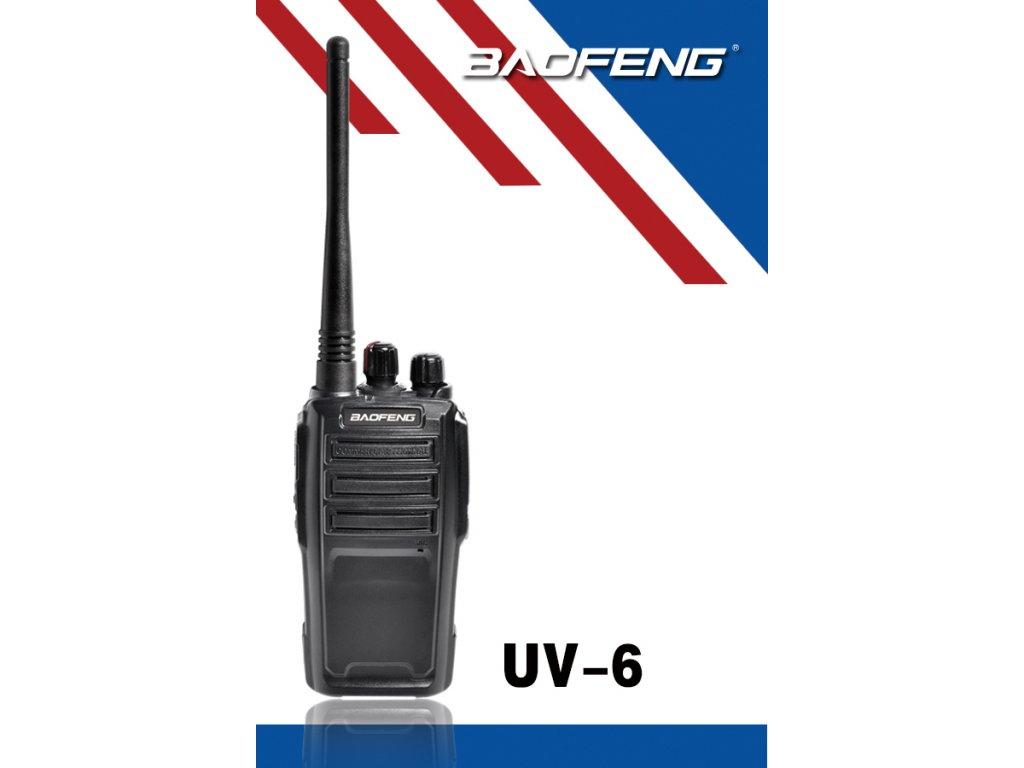 BAOFENG UV-6 VHF/UHF 128 kanálů 5/2W