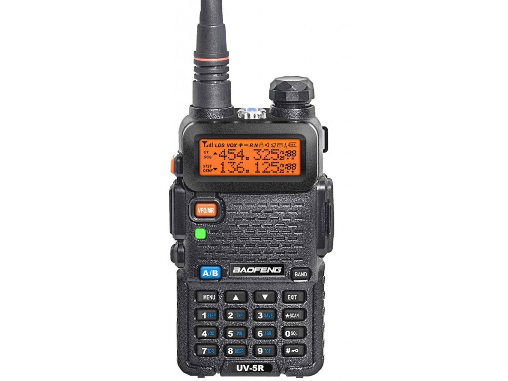 BAOFENG UV-5R VHF/UHF 128 kanálů 5W LCD