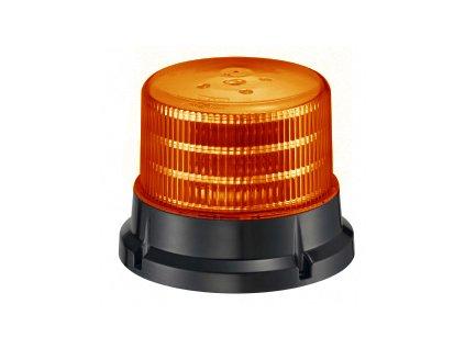 911 SIGNAL 75F maják 12-24V oranžový homologace dle E4-65R/E9-10R/SAE J845, 36 LED diod 0,5 W, 4 světelné režimy, pro pevnou montáž
