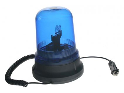 WL07 Maják zábleskový xenon magnetický 12V modrý