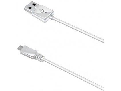 CELLY USB datový kabel MicroUSB 1 m bílý, pro nabíjení a synchornizaci