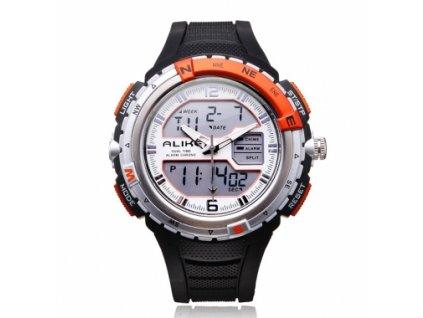 ALIKE AK1388 hodinky quartz oranžovo-šedé !VÝPRODEJ!