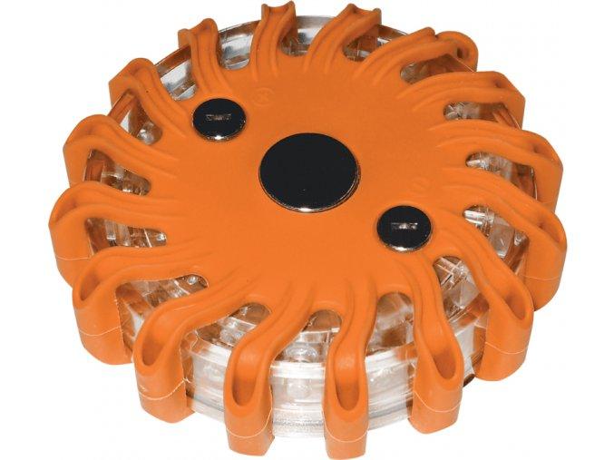 Výstražné LED světlo oranžové 16 LED diod magnetické