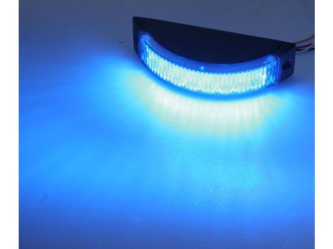 KF188 výstražné LED světlo modré 8x1 W, 180°, 12-24 V