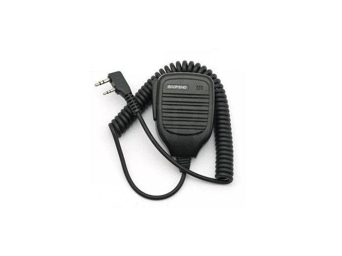 KMC externí mikrofon pro BAOFENG UV-5R / UV-5RA / UV-5RB / UV-5RD / UV-5RE bulk