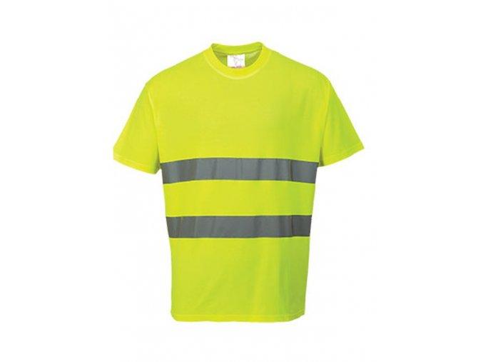 PORTWEST S172 COMFORT reflexní tričko žluté