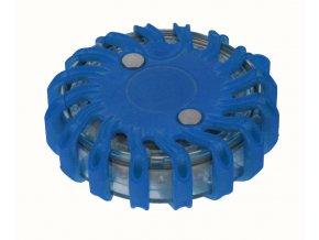 Výstražné LED světlo modré 16 LED diod magnetické