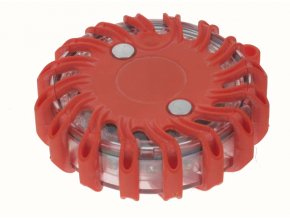 Výstražné LED světlo červené 16 LED diod magnetické