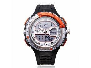ALIKE AK1388 hodinky quartz oranžovo-šedé