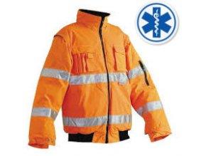 ČERVA Clovelly RESCUE zateplená reflexní bunda oranžová s logem modrá hvězda vel. M-XXXL