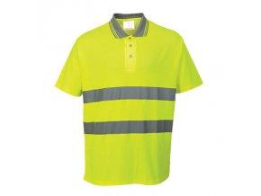 PORTWEST S171 COMFORT reflexní polo tričko žluté