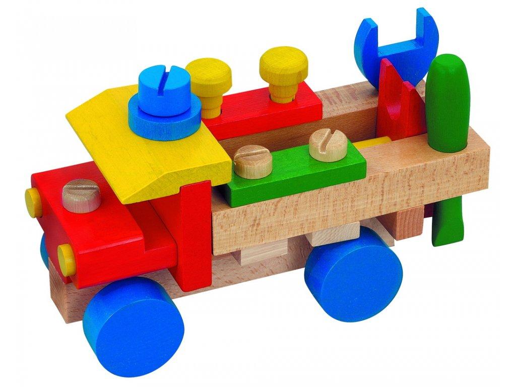 DETOA dřevěné montážní auto