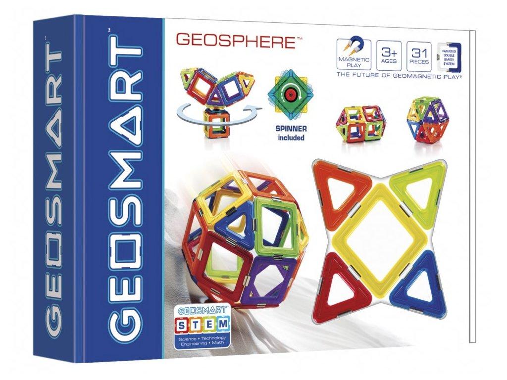 GeoSmart - magnetická stavebnice GeoSphere - 31 ks