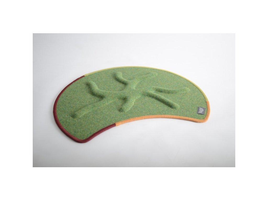 Kořenový koberec RootyRUG Fit Be Happy (limetkově zelený)