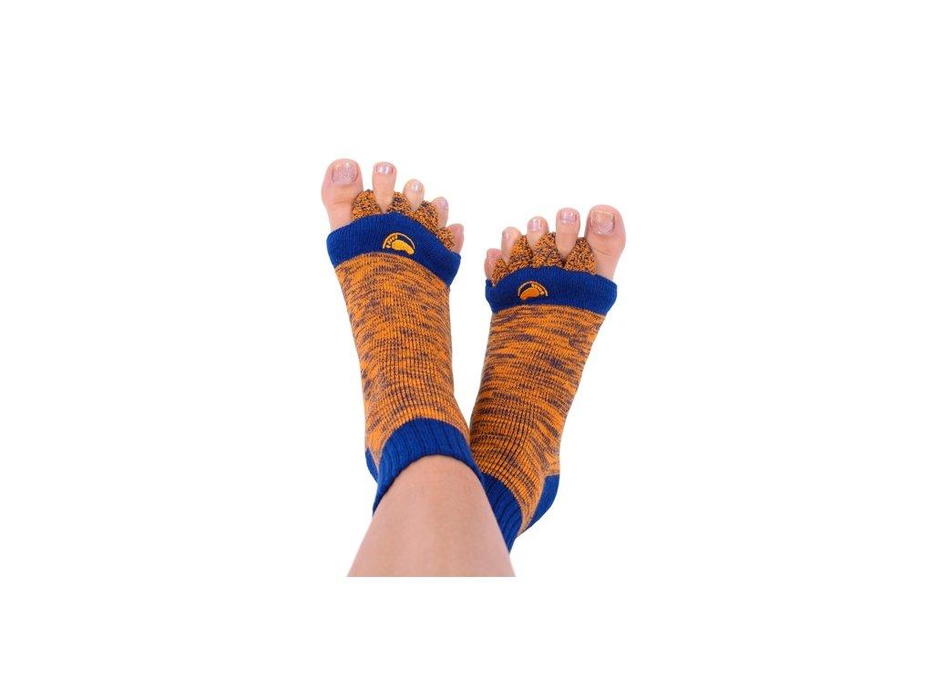 Happy Feet Adjustační ponožky ORANGE/BLUE