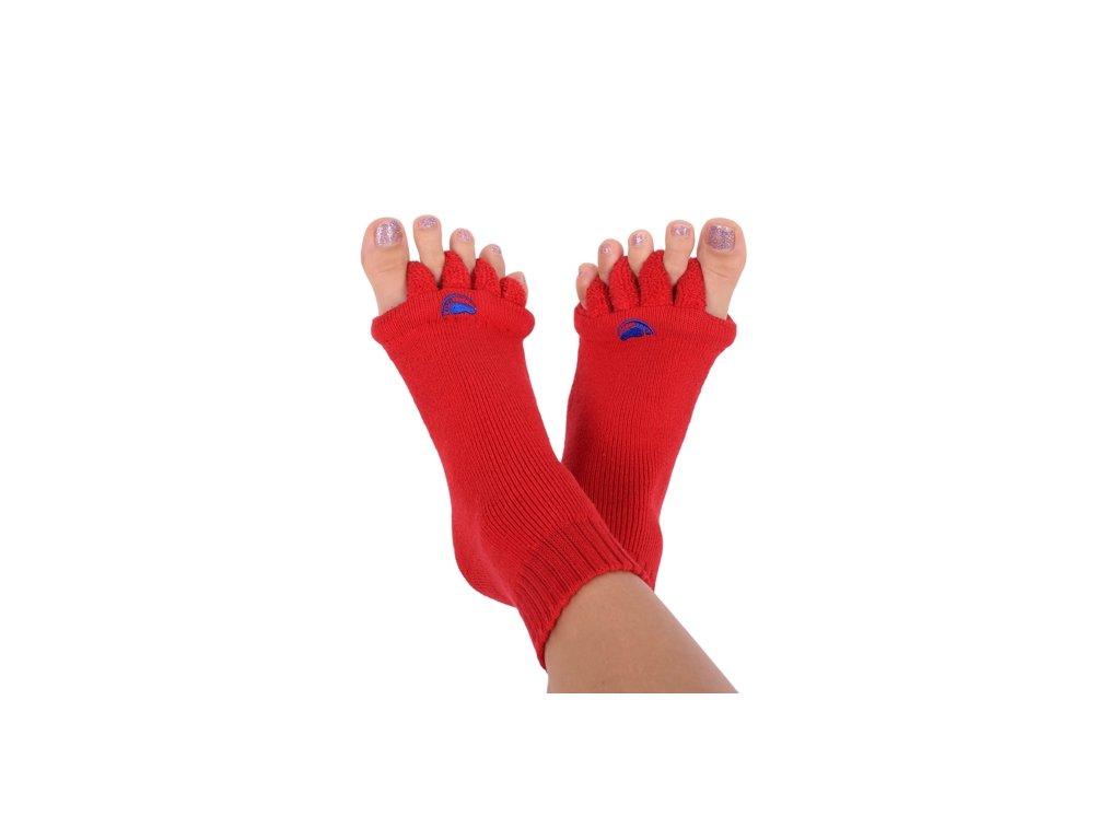 Happy Feet Adjustační ponožky RED