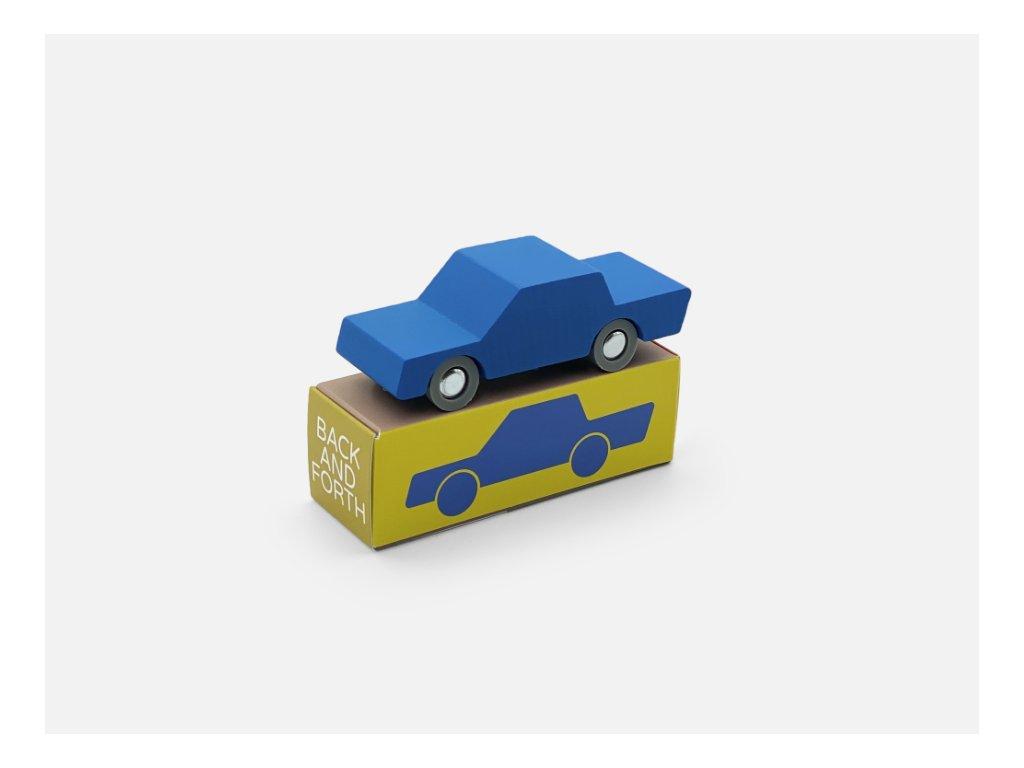 WAY TO PLAY Back and Forth dřevěné autíčko - Blue