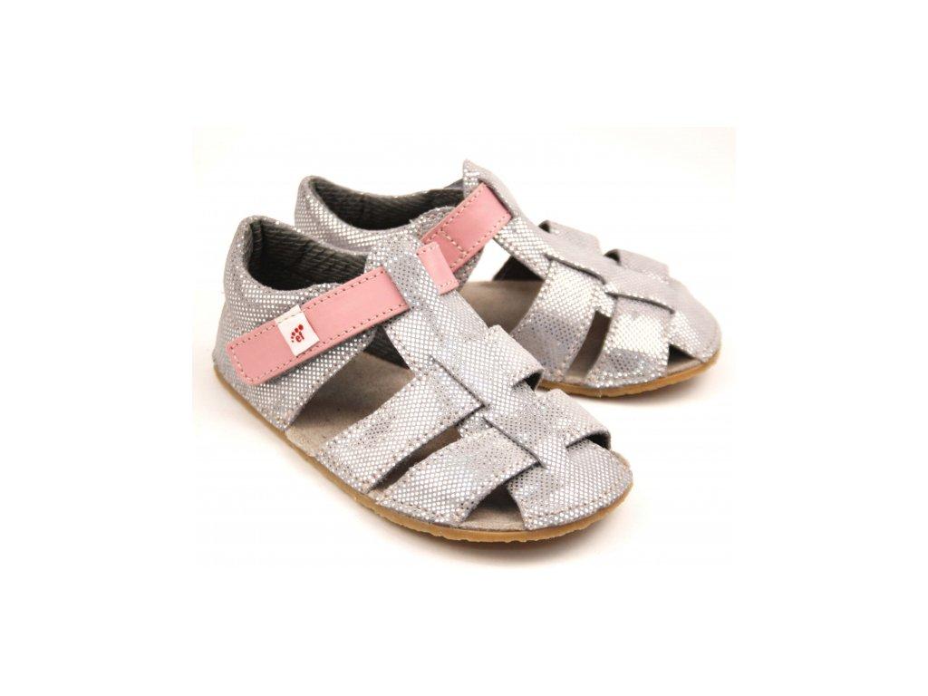 Sandále EF stříbrná