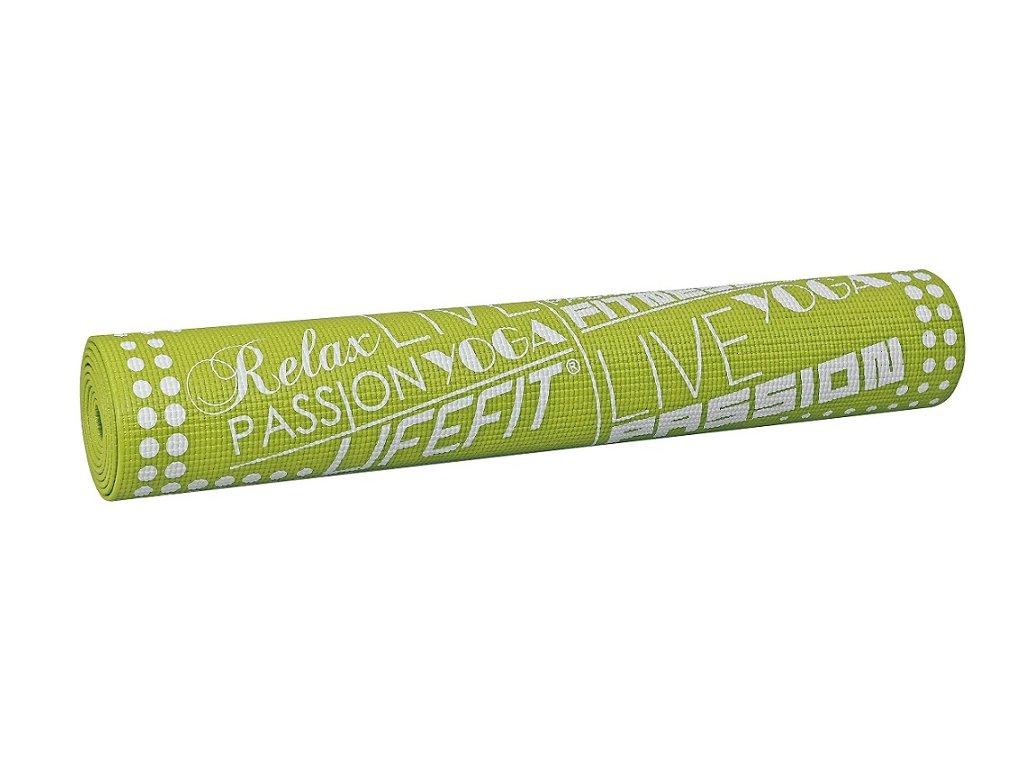 LIFEFIT SLIMFIT, 173x58x0,4cm, světle zelená