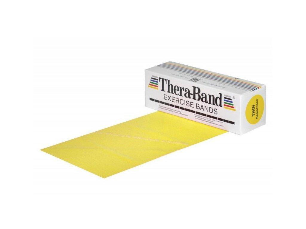 THERA BAND - posilovací guma 5,5m x 12,5cm - žlutá