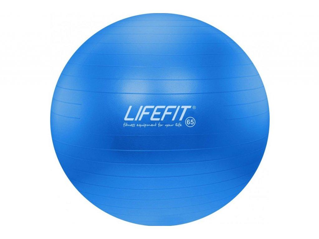 LIFEFIT - Gymnastický míč ANTI-BURST 65 cm, modrý