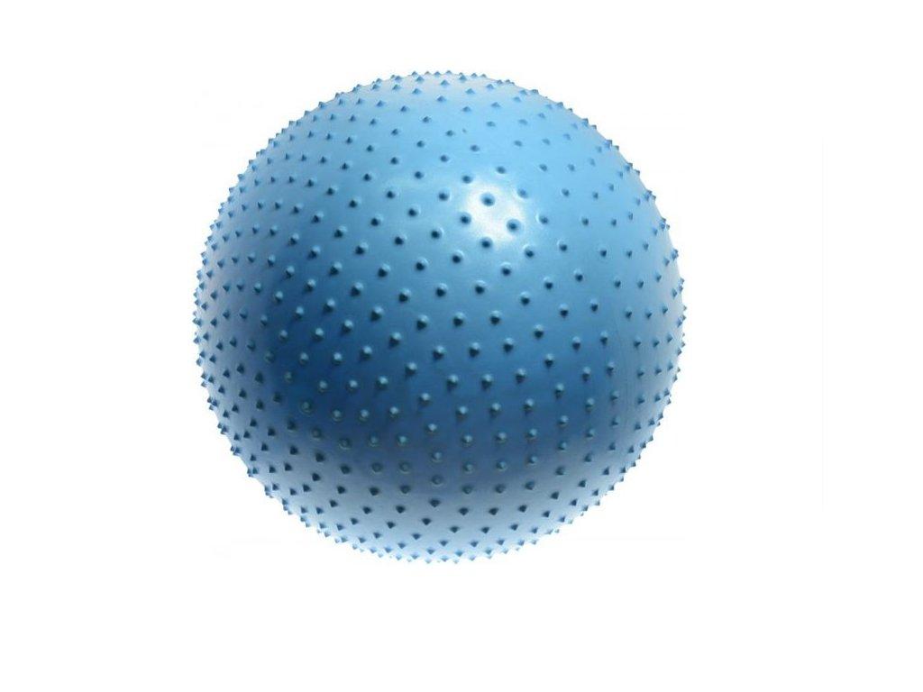 LIFEFIT - Gymnastický masážní míč MASSAGE BALL 75cm, světle modrý