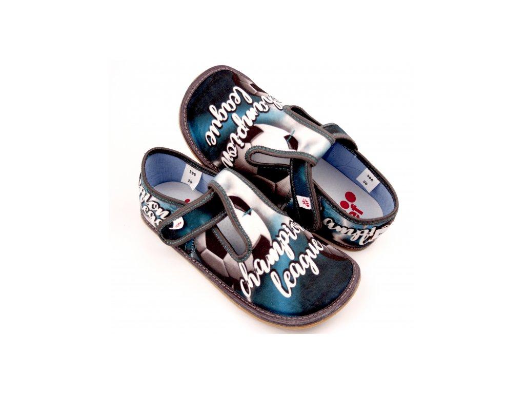 Barefoot bačkory Ef 395 šedá Champion
