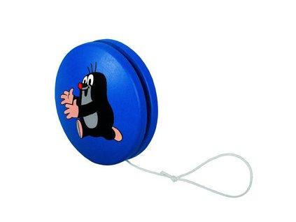 DETOA dřevěné jojo krtek modré