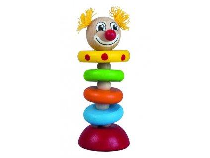 DETOA dřevěný klaun na gumě