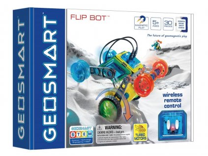 GeoSmart - magnetická stavebnice Flip bot - 30 ks