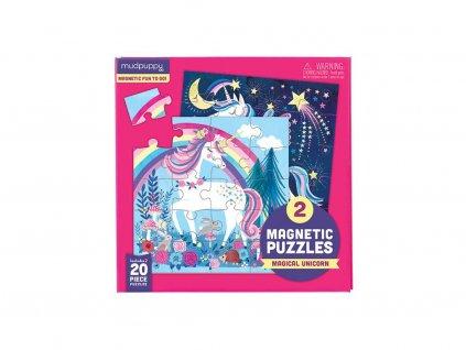 magnetické puzzle jednorožci